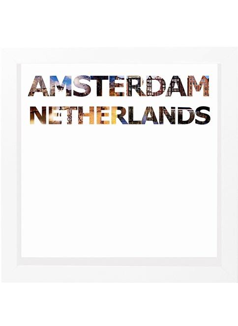 Decarthome Amsterdam Anı Çerçevesi 23x23 cm Beyaz